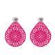 individuelle Ohrringe in Pink mit Ornamenten