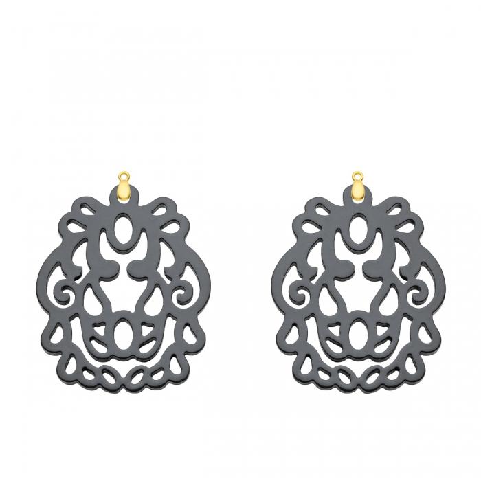 Schmuck Anhänger Horn mit Ornamenten für das Wechselsystem in Gold