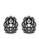 Einhänger Variante aus Horn in schwarz mit silber Schlaufe aus der Bali Kollektion