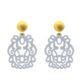 Stecker Ohrringe in Grau aus Horn mit gold Stecker und mit Wechselsystem