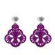 Violette Ohrringe aus Horn auch mit Wechselsystem aus der Capri Kollektion