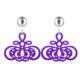 Hornohrringe in violett mit silber glänzenden Clips aus der Barbados Kollektion