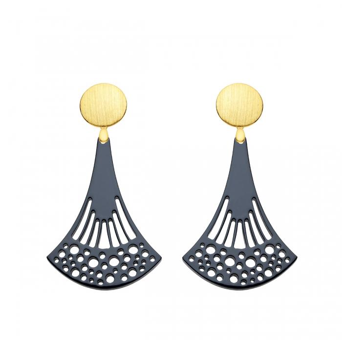 Blaue Ohrringe kaufen in Blau mit Wechselsystem in Gold aus der Pinza Kollektion von Romy North