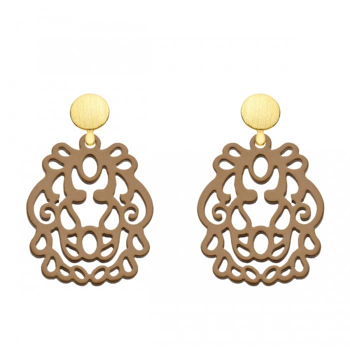 Ohrringe Damen Gold aus Horn aus der Bali Kollektion von Romy North