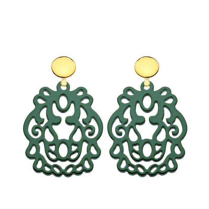 Ohrringe Grün mit Goldstecker aus der Bali Kollektion