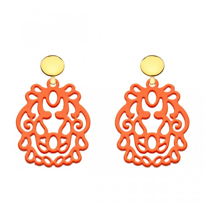 Ohrringe orange aus Horn aus der Bali Kollektion von Romy North