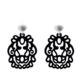 Ohrringe in Schwarz aus Horn von Romy North mit Silberstecker