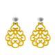 Ohrringe aus Horn in Gelb mit silber Stecker