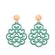Ornament Ohrringe in zartem Jadegrün aus der Reunion Kollektion von Romy North