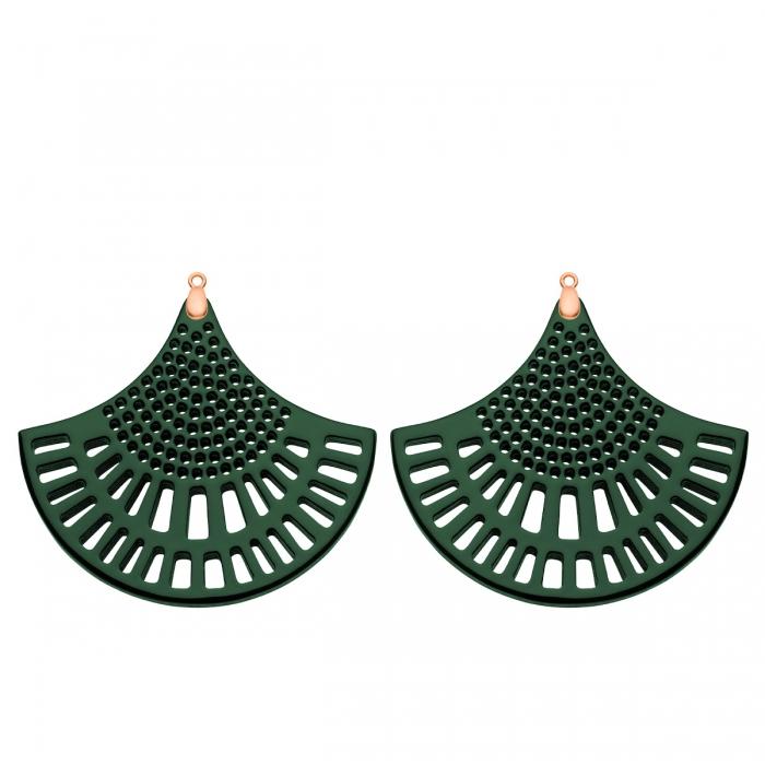 Anhänger für ausgefallene Ohrringe aus Horn in Grün