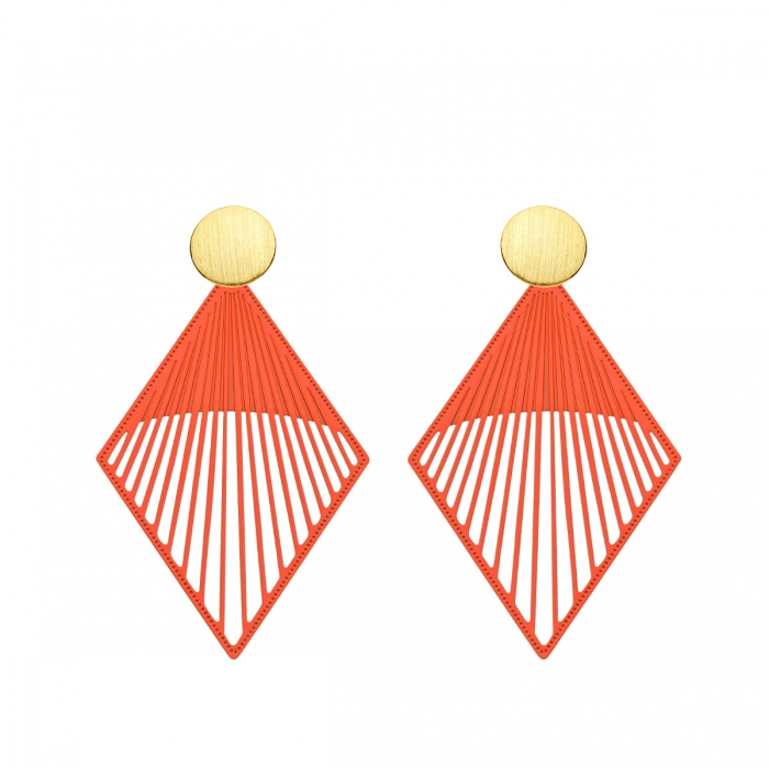 Ohrringe lang für Damen in Orange von Romy North aus der Mykonos Kollektion