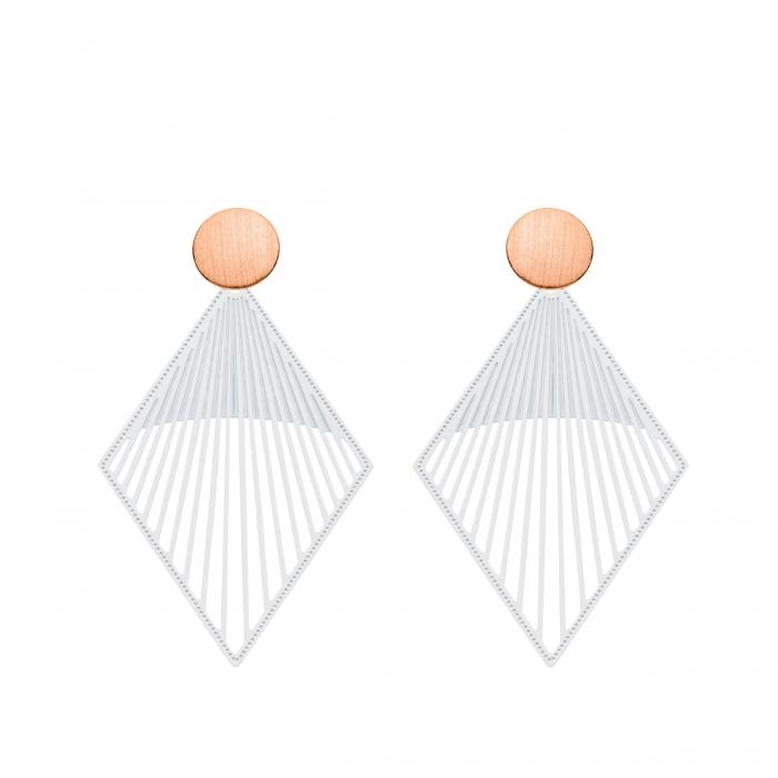 Zarte Ohrringe für Damen in Weiß von Romy North