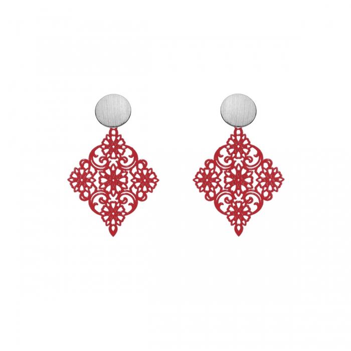 Ohrringe rot zart und klein