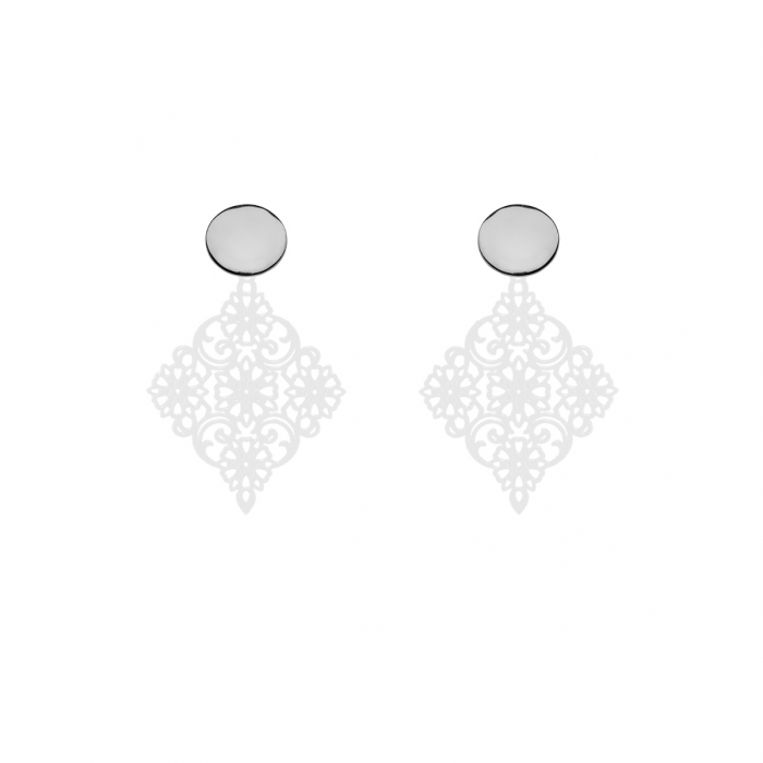 Wunderschöne Ohrringe in Weiß aus der Tahiti Kollektion von Romy North