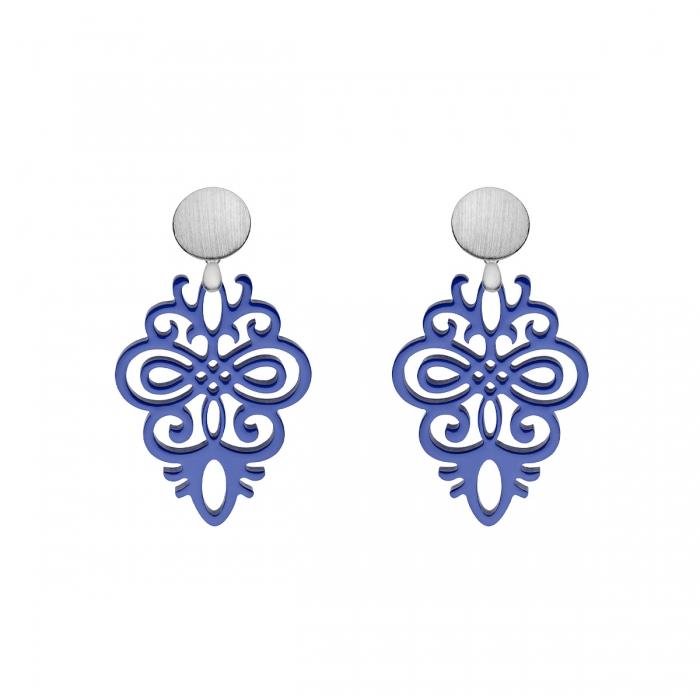 Violette Ohrringe für Damen in Violett aus der Saona Kollektion von Romy North