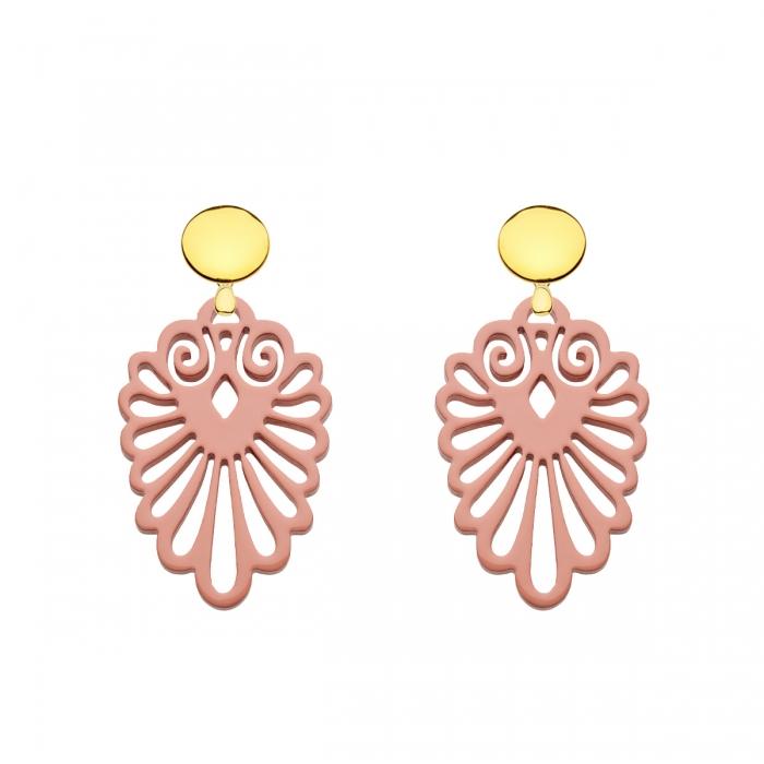 Damen Ohrringe rosa aus der Sumatra Kollektion aus Horn von Romy North