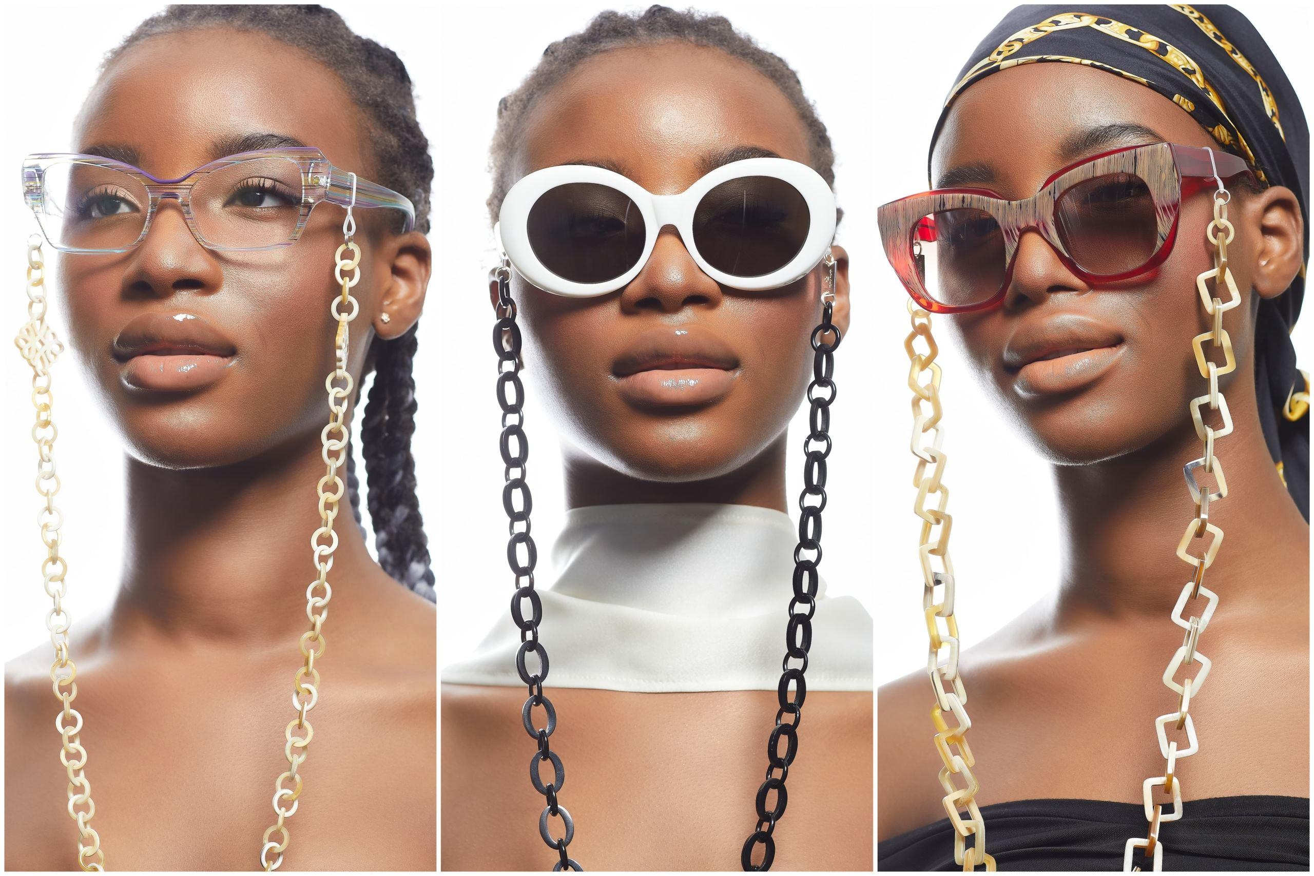 Brillenkette aus Horn von Romy North