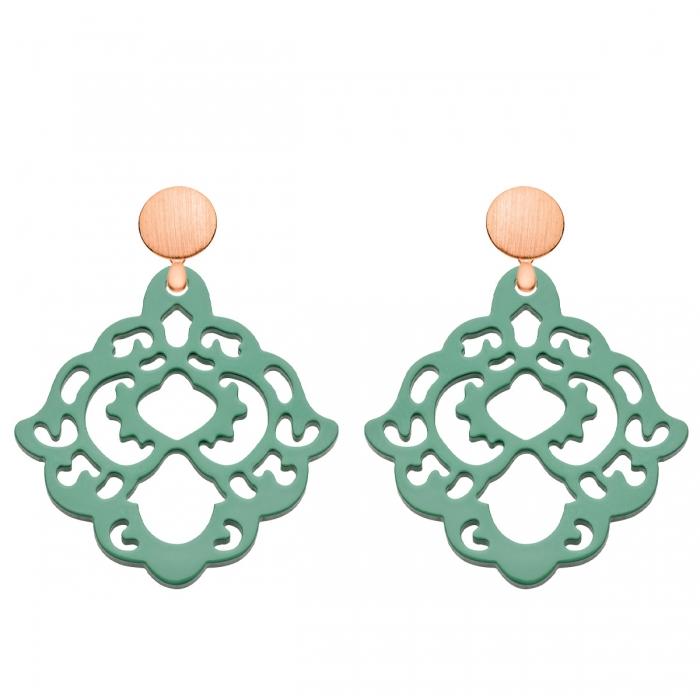 Ohrringe aus Horn in Jadegrün aus der Bora Bora Kollektion von Romy North