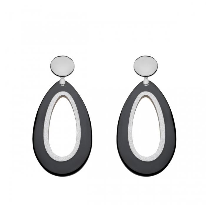 Ohrringe aus Horn in Schwarz mit Silberstecker aus der Calala Kollektion von Romy North