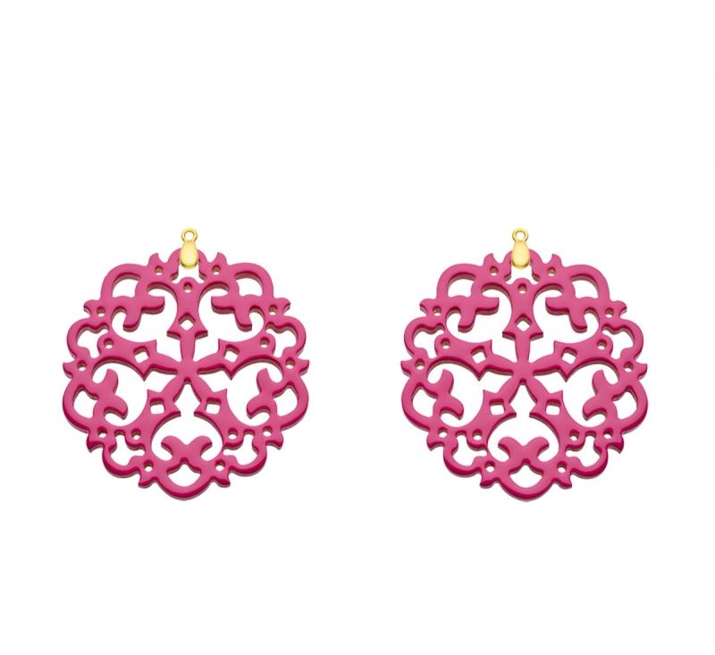 Ohrringe pink - Anhänger für das Wechselsystem Hornohrringe von Romy North