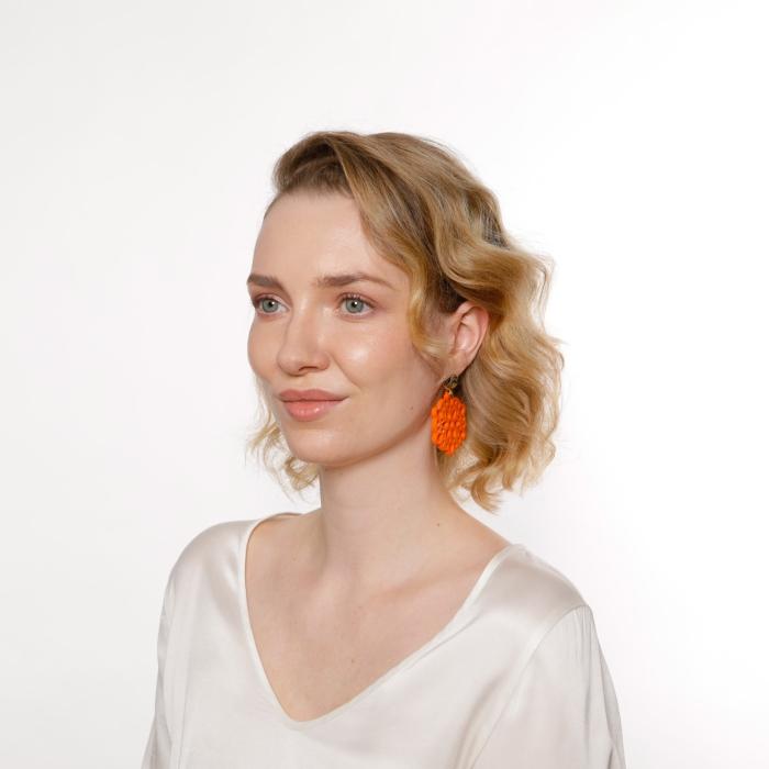 Ohrringe in Orange Trend aus Horn von Romy North