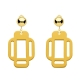 Gelbe Ohrclips in Gold eckige Form von Romy North