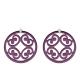 Violette Anhänger rund für Wechselohrringe aus Silber von Romy North