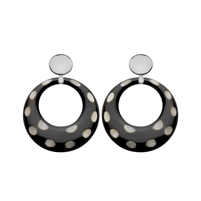 runde Ohrringe mit Punkte Polka Dots von ROmy North