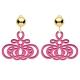 Ohrclips pink mit Gold glänzenden Clips aus der Barbados Kollektion