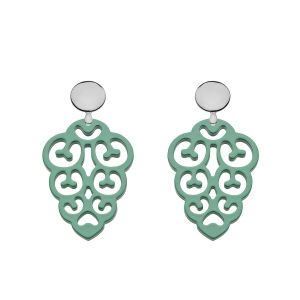 Jadegrüne Ohrringe mit Silberstecker von Romy North