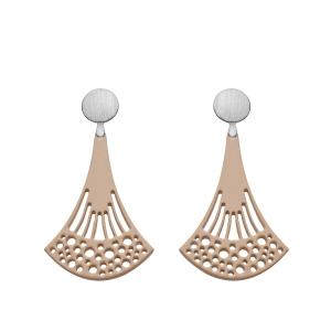 Lange Ohrringe aus Horn mit Silberstecker von Romy North