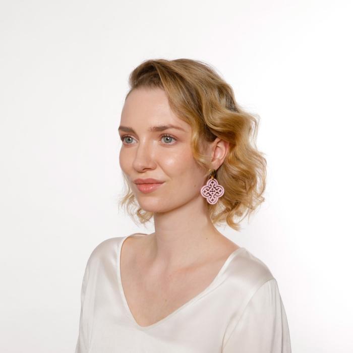 Ohrringen Damen in Rosa aus Horn in Blumenform von Romy North